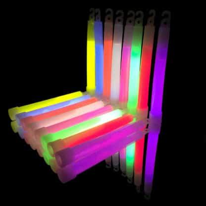 6 inch 15mm glow in the dark sticks