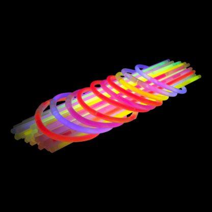 glow bracelets for hen party in pink, purple, yellow, green