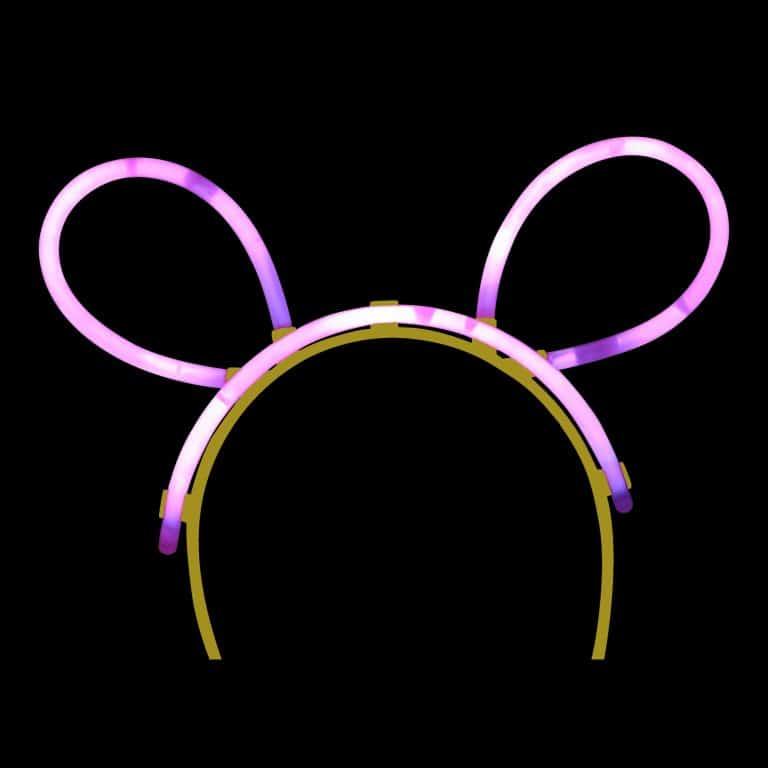 pink glow stick bunny ears