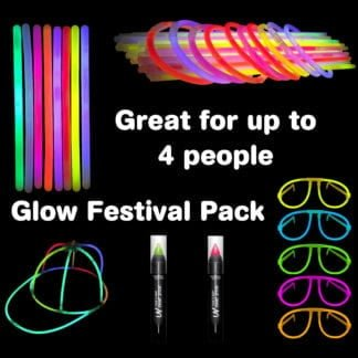 Festival Glow Stick Accessory Pack