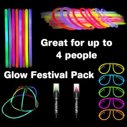 Festival Glow Stick Accessory Pack