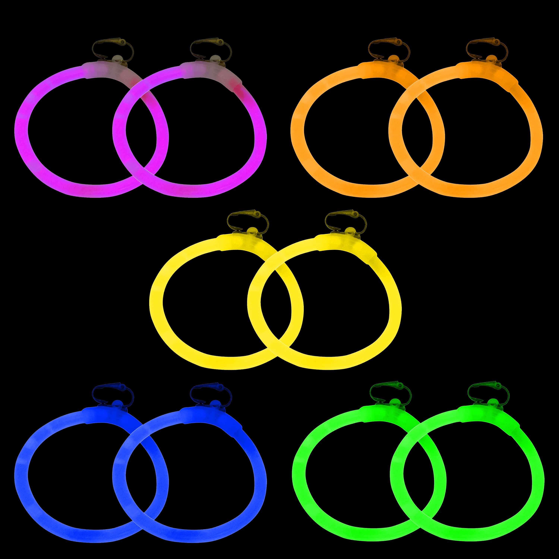 glow stick hen party earrings