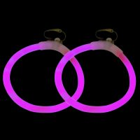 Glow Ear Rings (pair) in pink