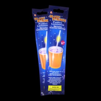 Glow Straws, in a pack of six mixed colours