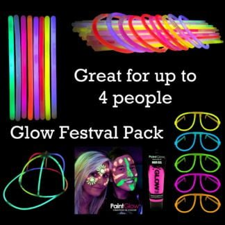 Glow Stick and UV Glow Paint festival party pack