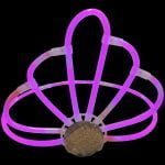 pink glow stick tiara for hen party