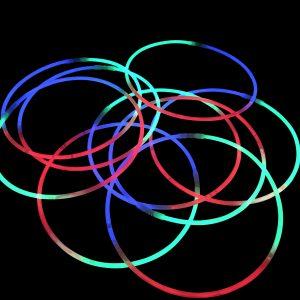 Glow Stick Necklaces Tri Colour