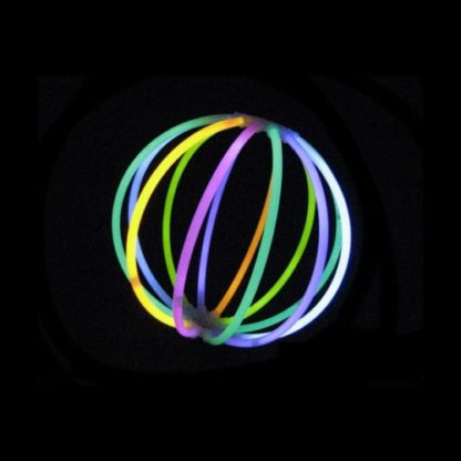 """Connectors that can be used with 8"""" bracelet sticks to make a glow ball"""