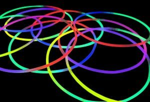22 inch Mixed Colour Glow Stick Necklace