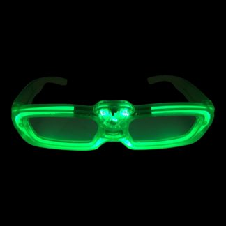 led sound activated glasses green