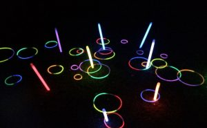 multicoloured glow in the dark hoopla game