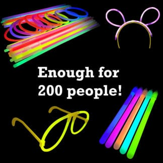 Mega Glow Stick Pack for 200 People