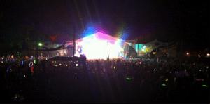 festival light sticks in crowd at bassnectar gig