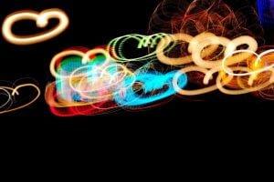 glow stick hearts