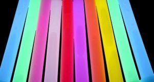 multicoloured glow sticks on the history of glow sticks