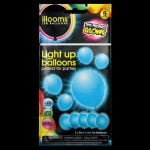 Pack of 5 iLLooms LED balloons in bright blue