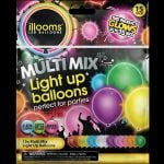 Mixed colour 15 pack of LED balloons