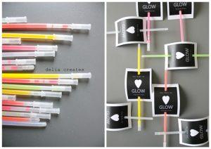 Glow stick party invitation idea