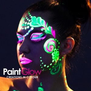 glow in the dark party face paint idea