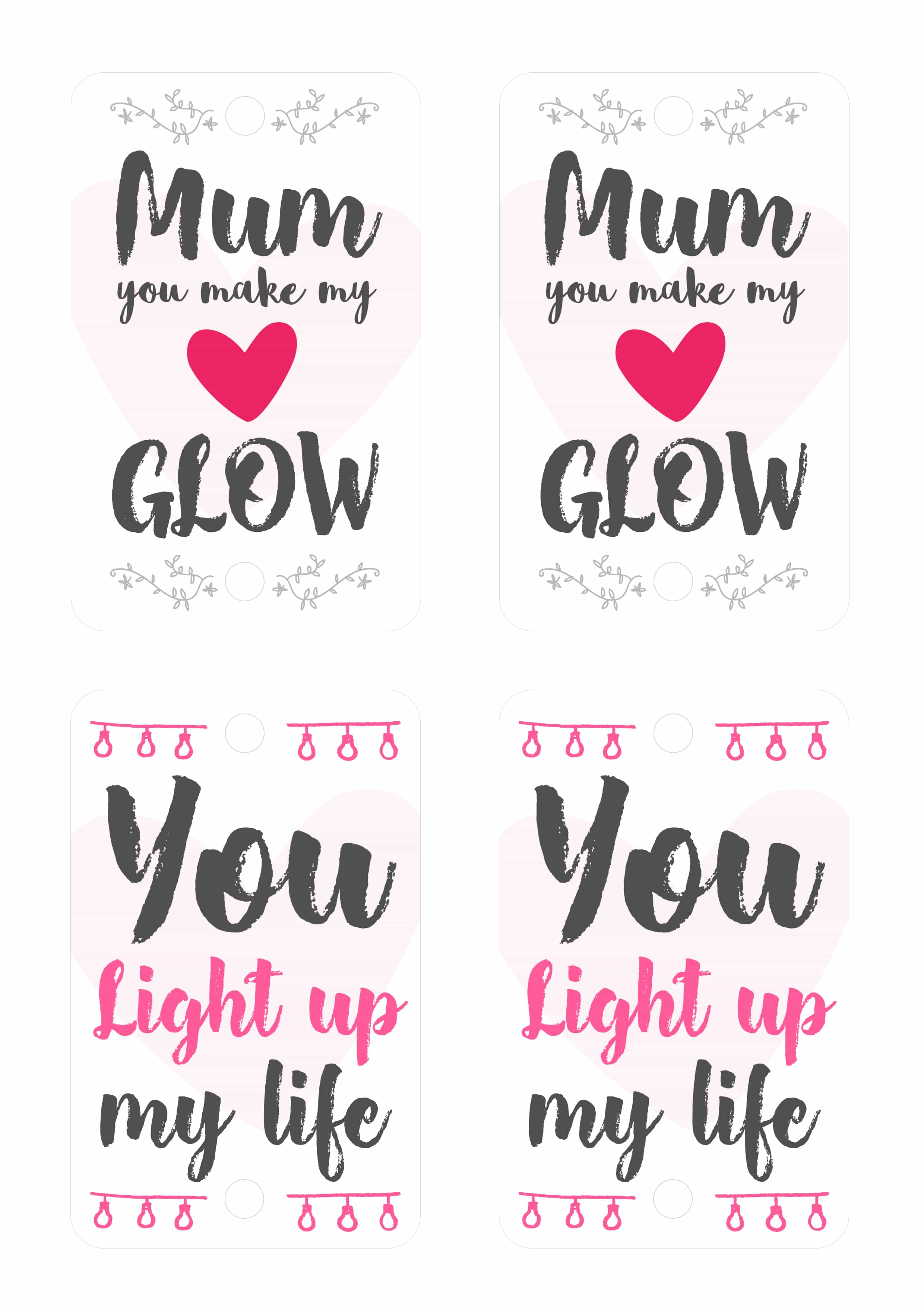 image about You Make My Heart Glow Printable called Do-it-yourself Moms Working day Shine Adhere Craft Glowtopia