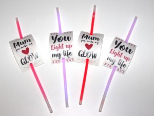 mothers day glow stick craft