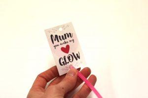 mothers day glow stick craft
