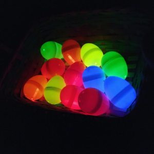 glow stick easter egg hunt with glow in the dark easter eggs
