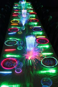 glow stick wedding decorations