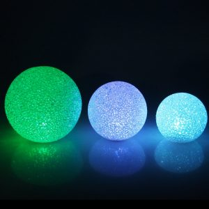 LED Decorative Snowball with gently changing pastel tones