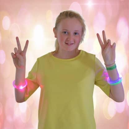 LED bracelets multi colur light up fashion fun bracelet