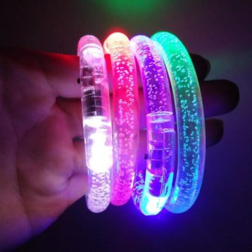 Bright LED Flashing Bracelets in mixed colours