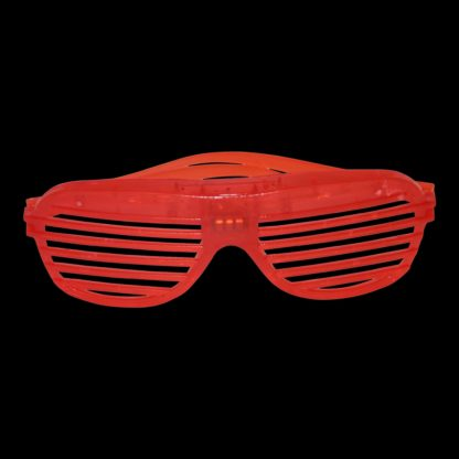Brightly lit LED Shutter Shades with flash function