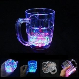 LED Flashing Pint Cup (500ml) with flashing light settings