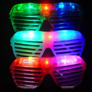 Bright LED Flashing Shutter Shades in mixed colours