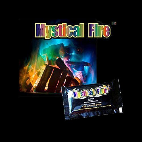 Mystical Fire Sachets create vivid colours in wood burning fires