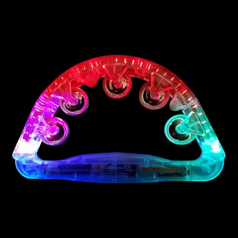 LED Tambourine Red Green Blue Flashing