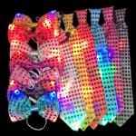 LED Flashing Sequin Bow & Neck Ties
