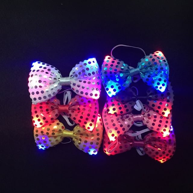Bow Ties With Flashing LEDs that can be easily set to different flash patterns