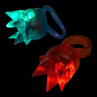 Light up Crown LED Ring jelly rubber in multi colours