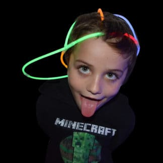Glow stick novelty cap