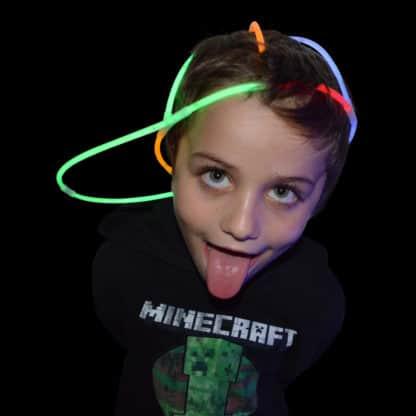 Glow stick novelty cap