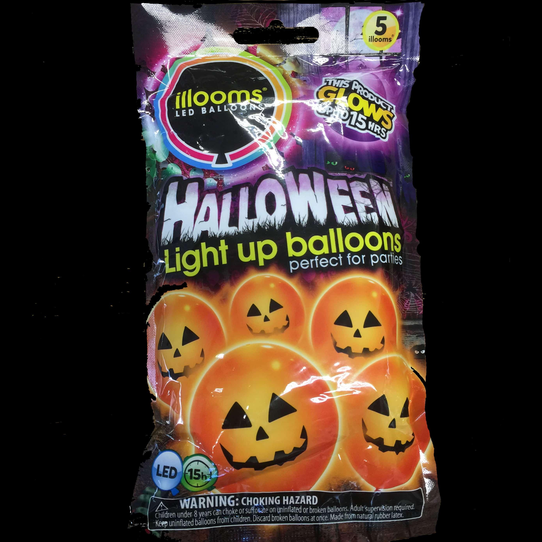 Halloween Glow Pumpkin Balloons