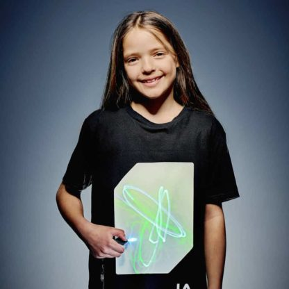 Cotton interactive glow t-shirts in adult and children's sizes