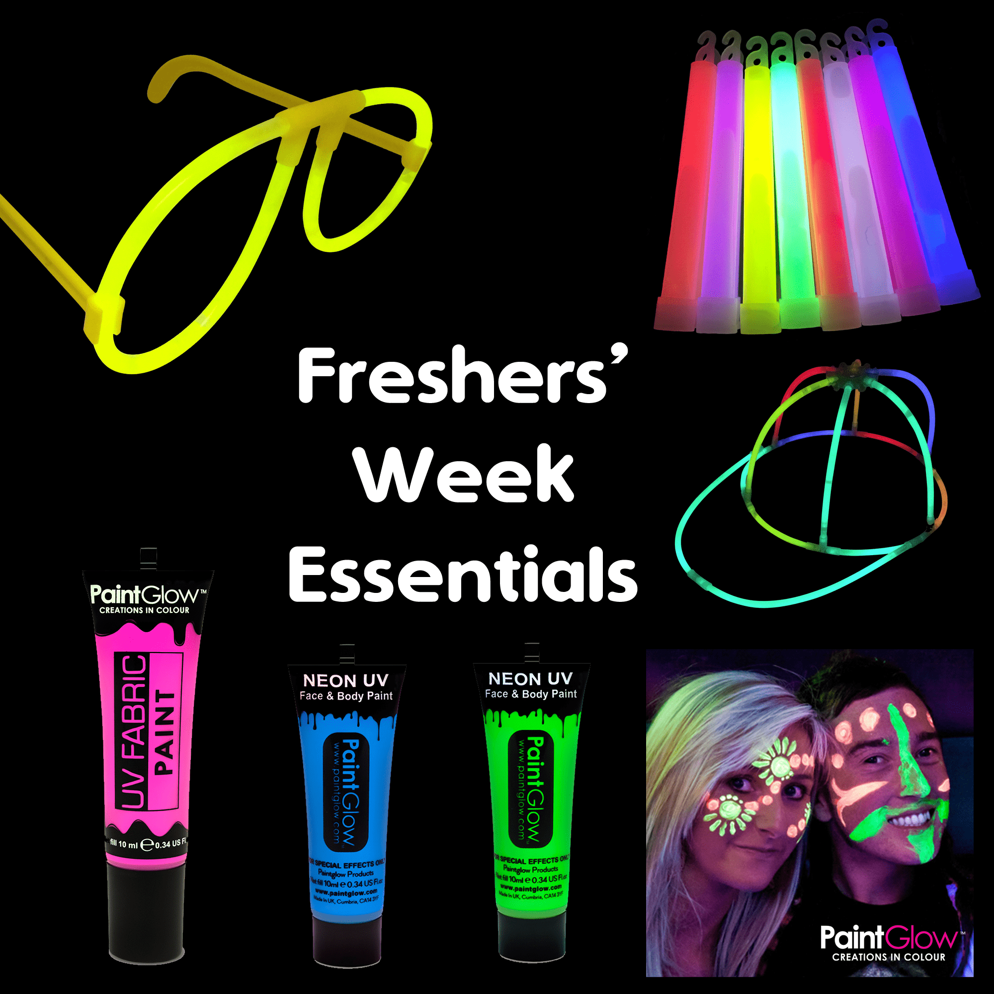 Freshers' Week Glow in the Dark Pack