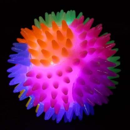 Spiky Ball with bright LEDs that lights up and flashes when it bounces.