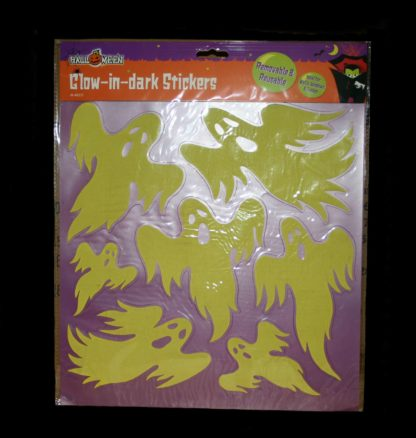 Halloween Glow in the Dark Stickers which can be used on walls, windows and tables.