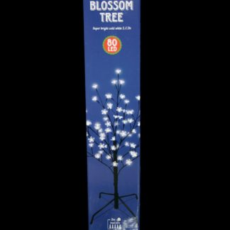 80cm tall LED Blossom Tree, which is 80cm tall and features 80 super bright white LEDs