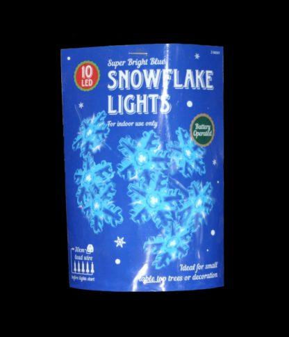 Blue Snowflake Lights