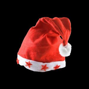 One size fits all felt flashing Santa Hat with 5 LEDs
