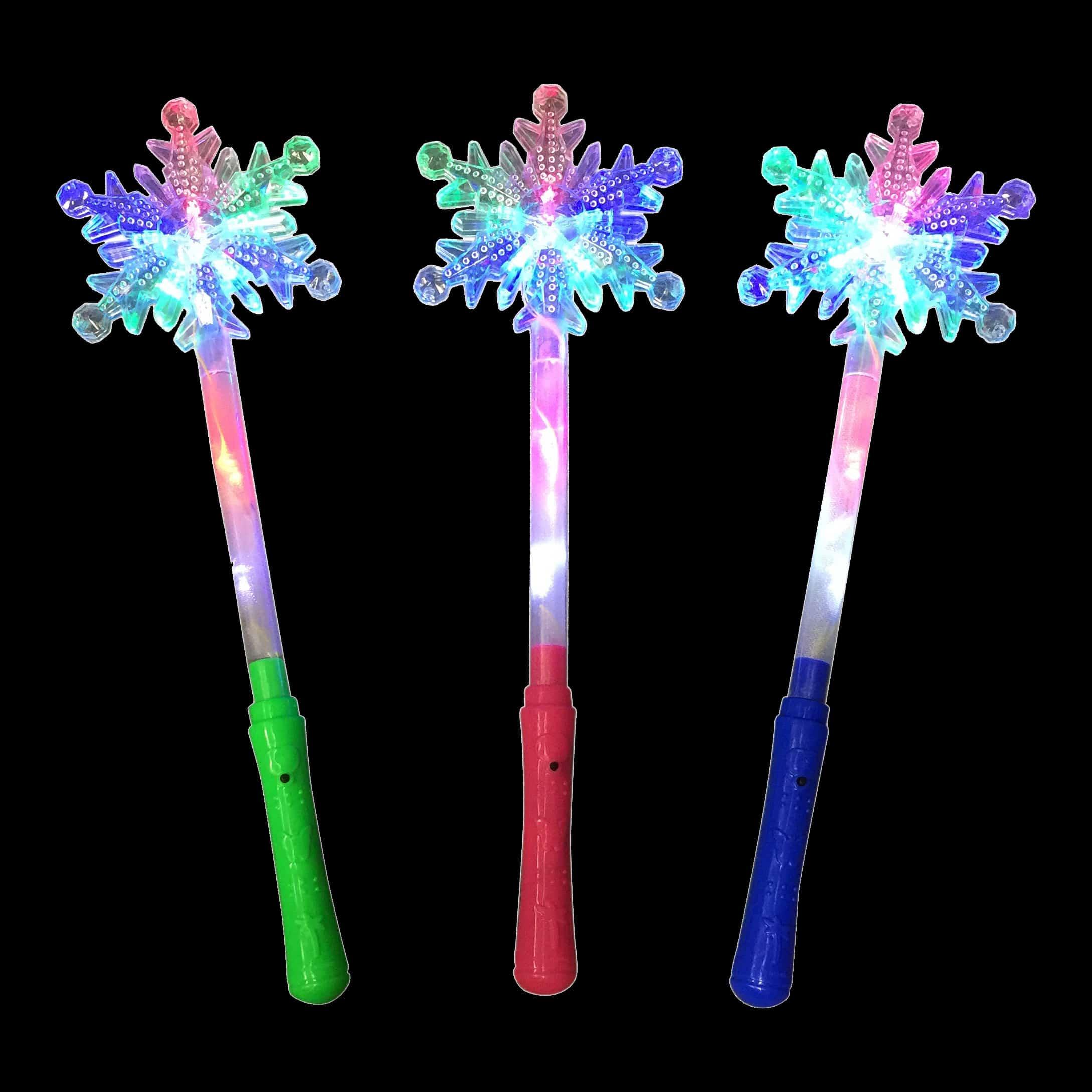 LED Snowflake Wand